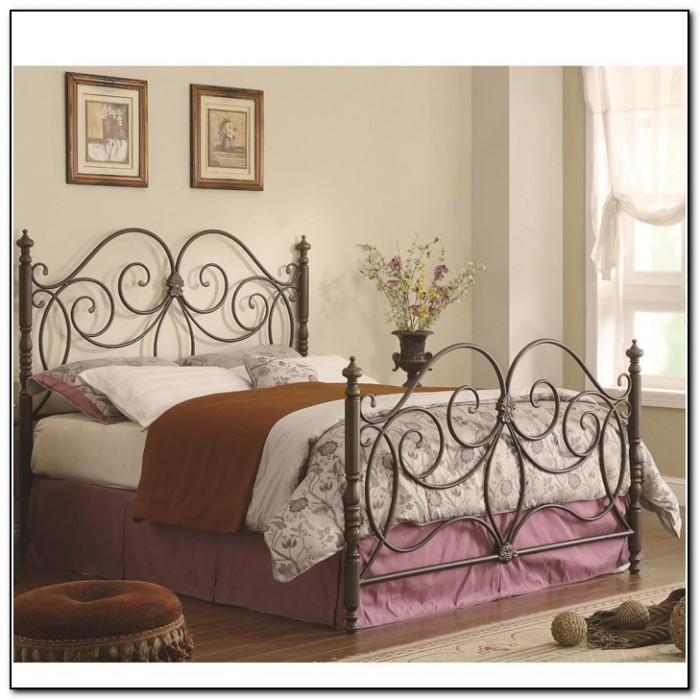 Queen Metal Bed Frame For Headboard And Footboard
