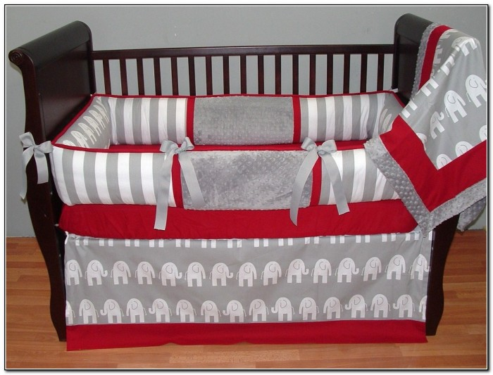 Red Baby Boy Crib Bedding Sets