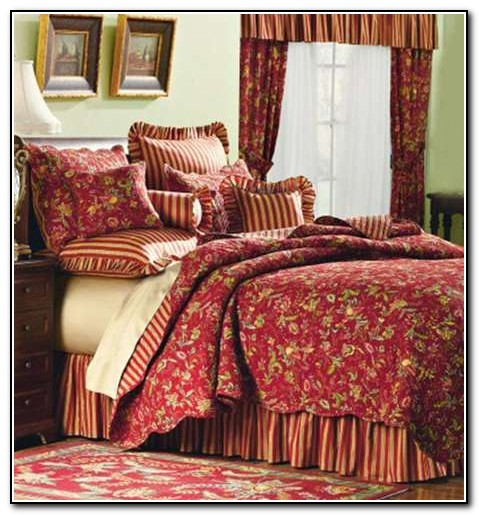 Red French Country Bedding