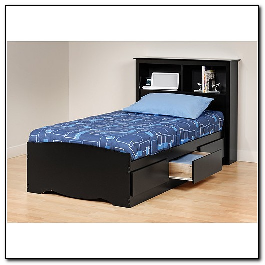 Twin Bed With Drawers And Headboard