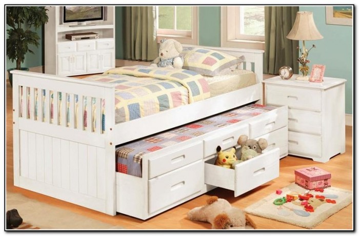 Twin Beds With Drawers Underneath
