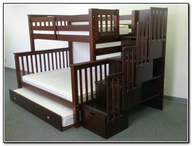 twin over queen bunk bed with stairs 28 images full