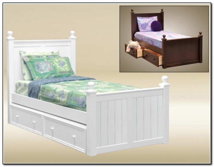 White Twin Beds For Girls