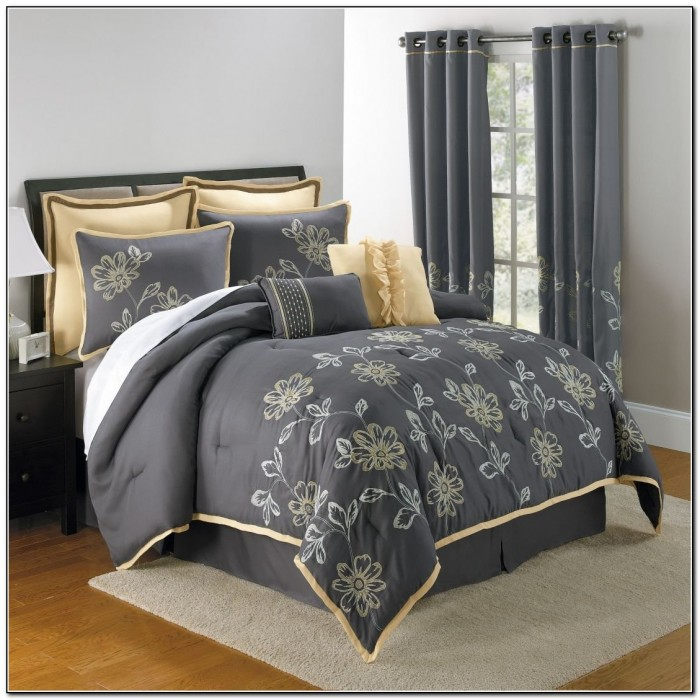 Yellow And Grey Bedding Sets