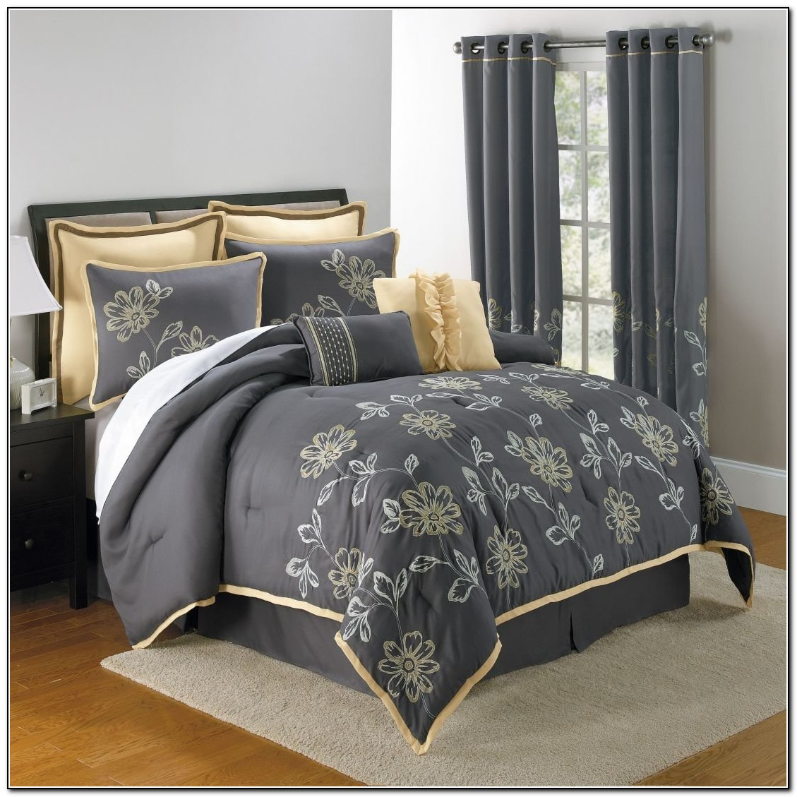 Yellow and grey bedding sets download page home design - Gray and yellow bedding sets ...