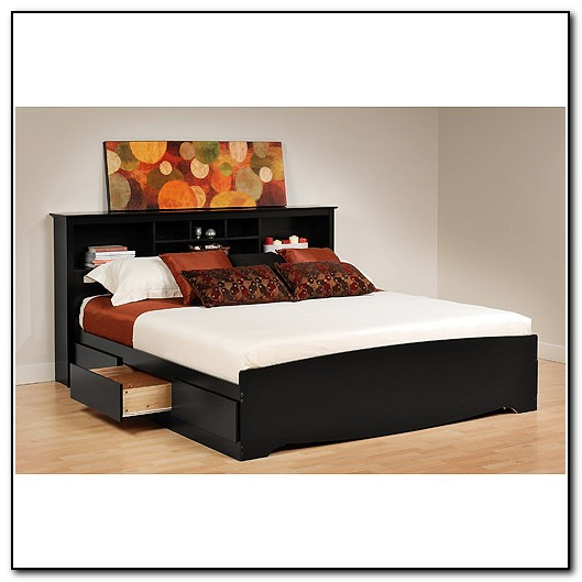 Black Bed Frame With Storage