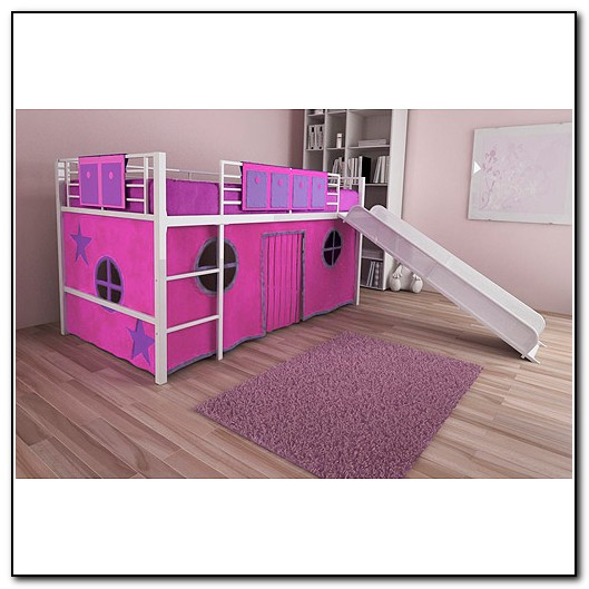 Double Bunk Beds With Slide