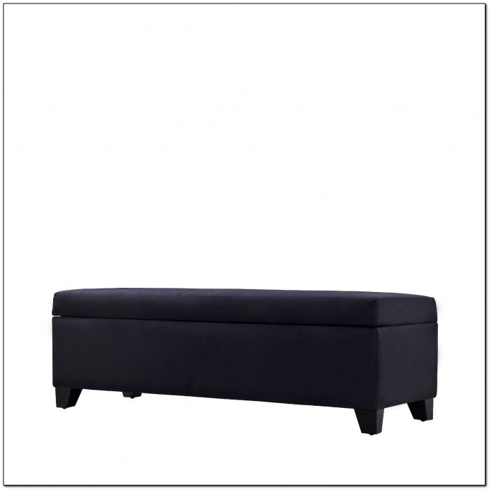 End Of Bed Storage Bench Black