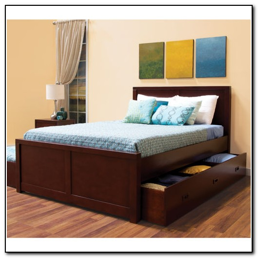 Full Bed With Trundle And Storage