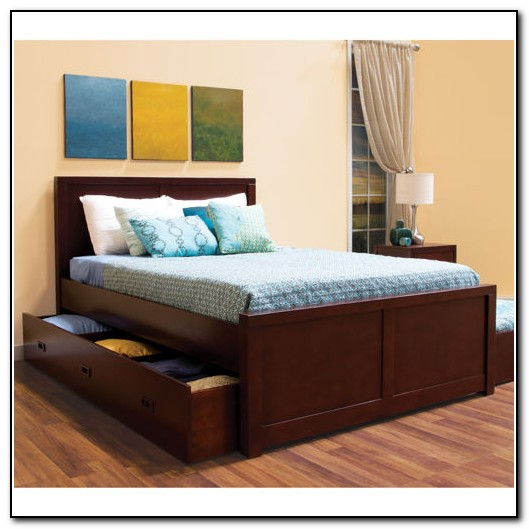 Full Size Trundle Bed With Storage Drawers Beds Home Design