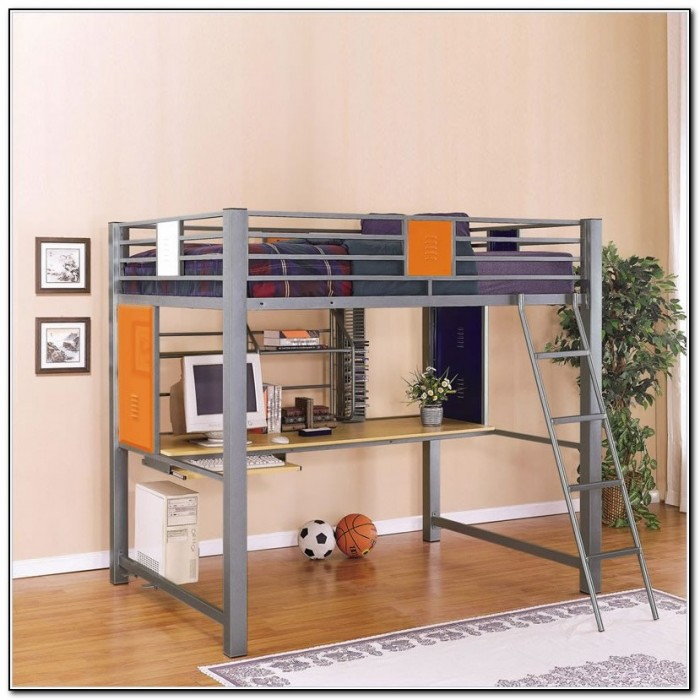 Full Size Loft Beds With Desk Underneath