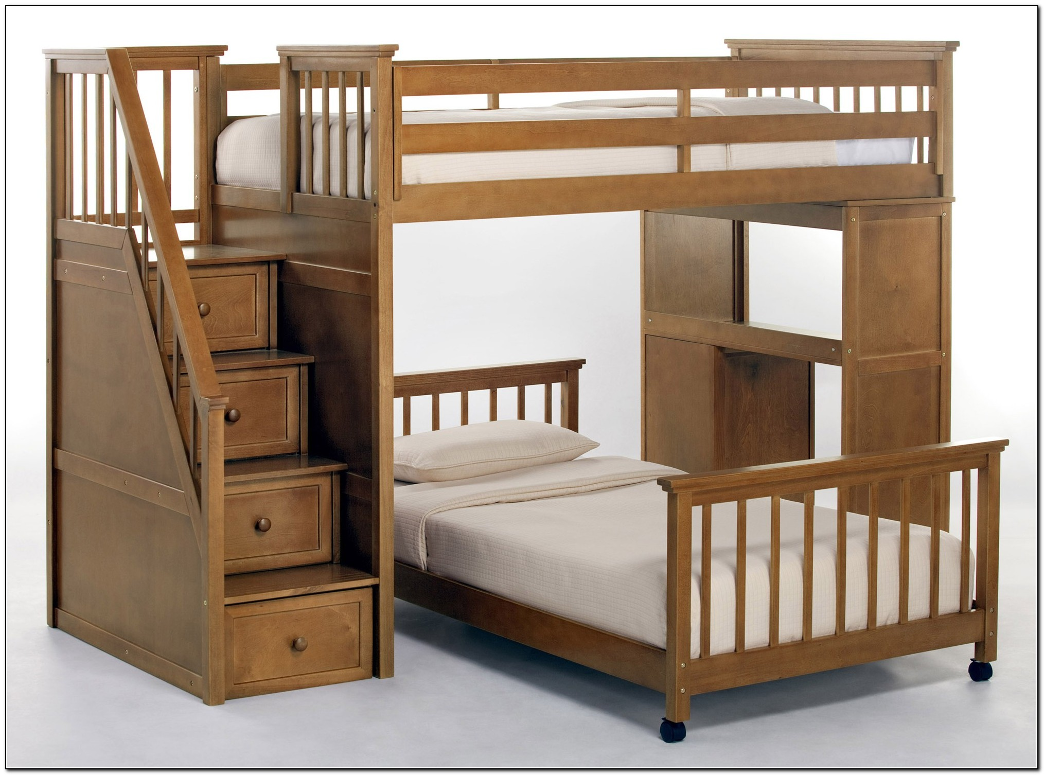Loft Bed With Stairs And Desk Beds Home Design Ideas