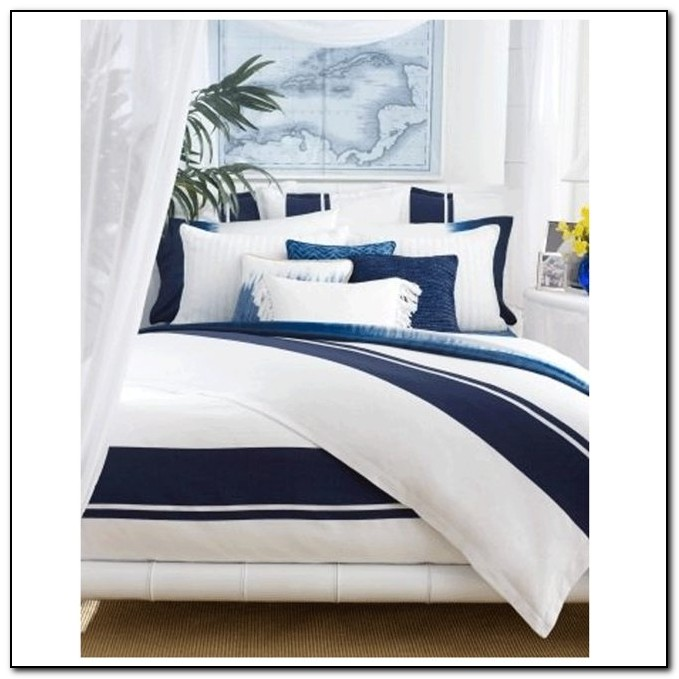 navy and white crib bedding