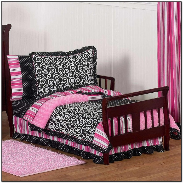 Pink And Black Bedding For Adults
