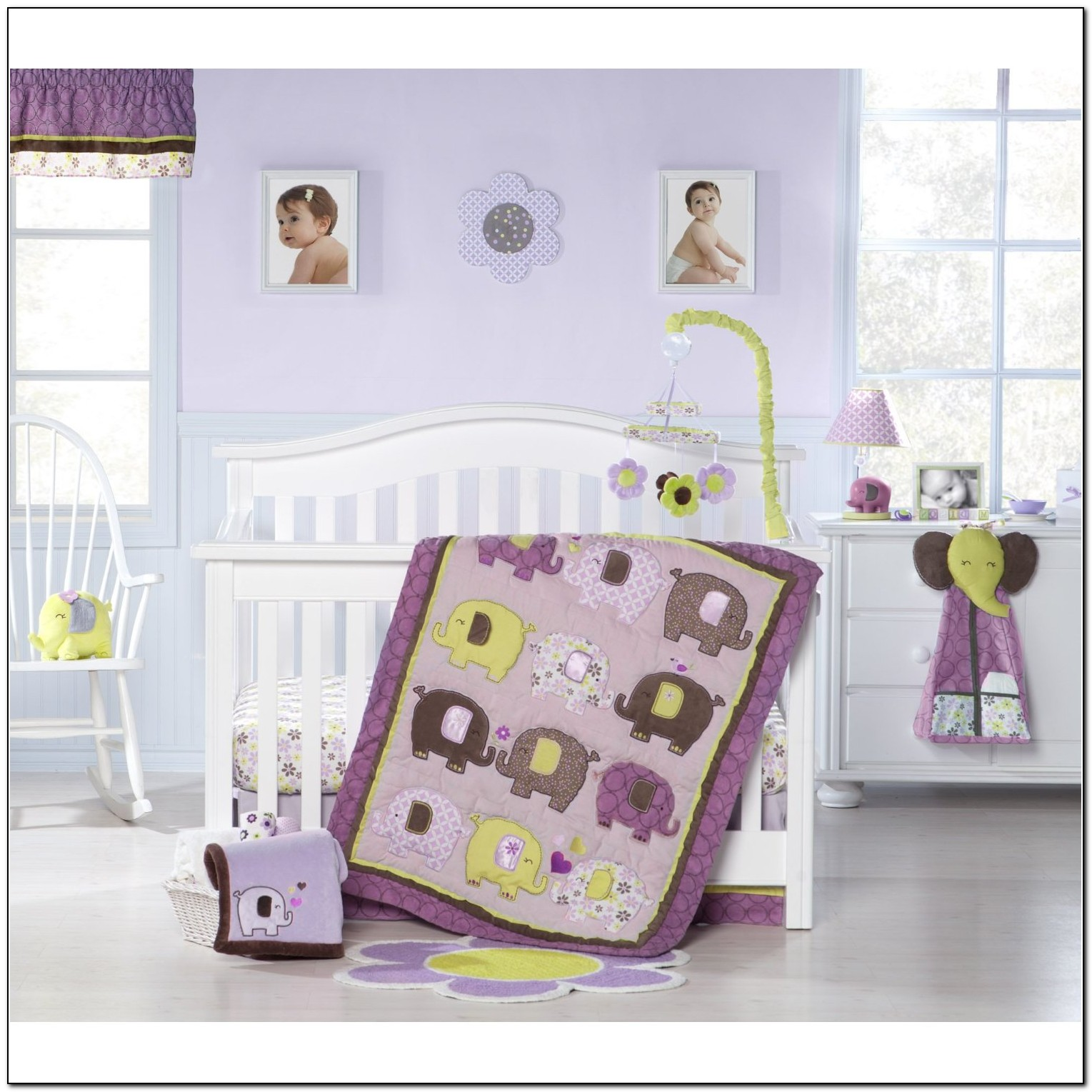 Purple Elephant Crib Bedding Beds Home Design Ideas