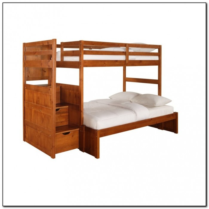 Twin Over Full Bunk Bed With Stairs And Storage Beds