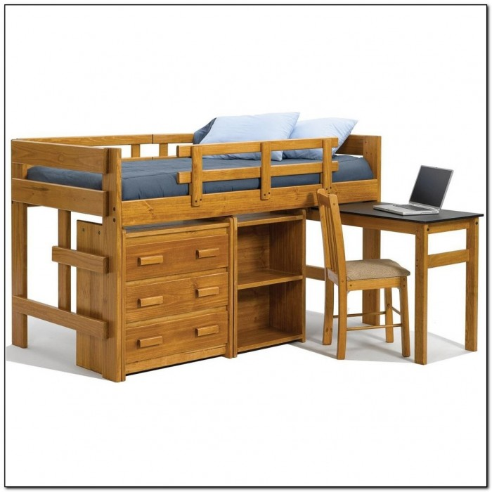 Twin Loft Bed With Desk And Storage