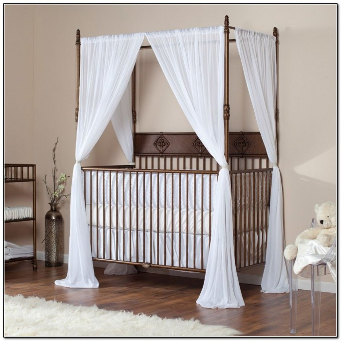 White Canopy Bed Frame