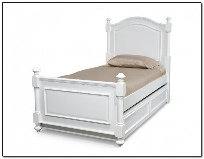White Trundle Bed With Storage