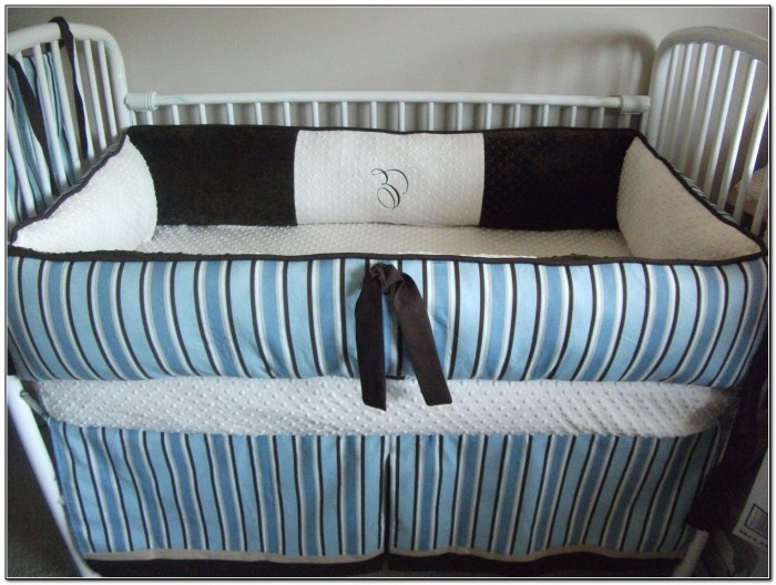 Baby Blue And White Bedding