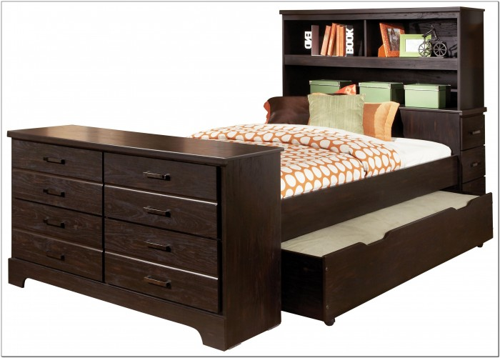 Bed With Trundle And Storage