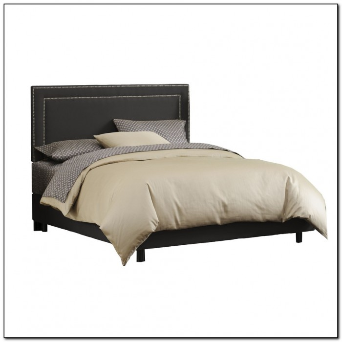Black Upholstered King Bed