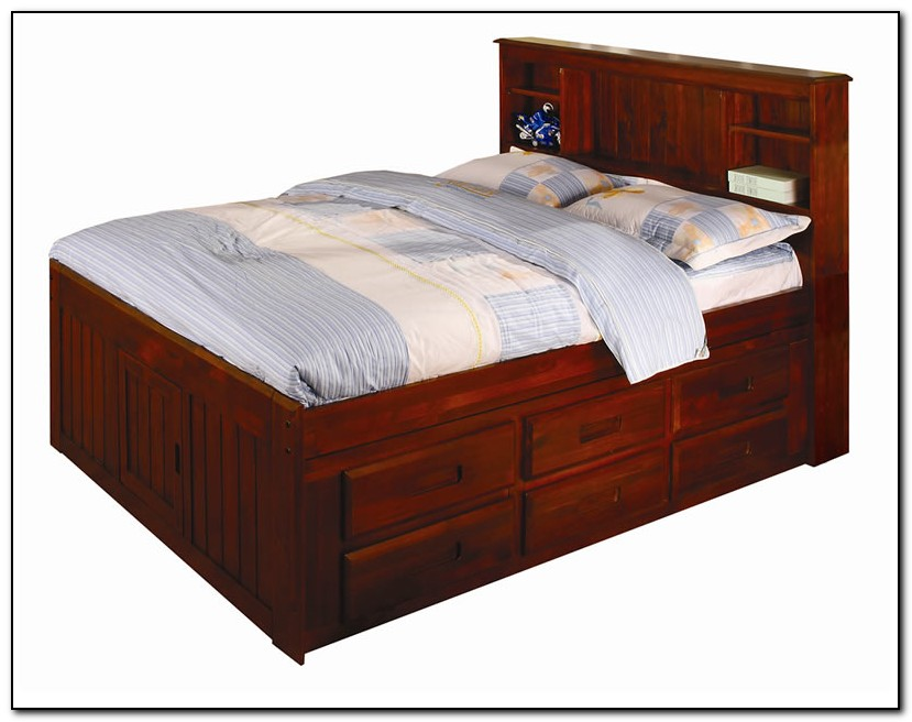 Captains Bed Full With Drawers Download Page Home Design