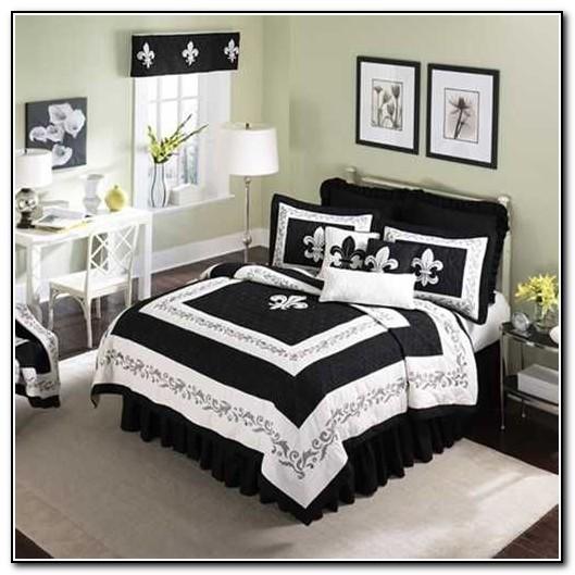 Fleur de lis bedding sets black and white download page home design ideas galleries home - Fleur de lis comforter ...