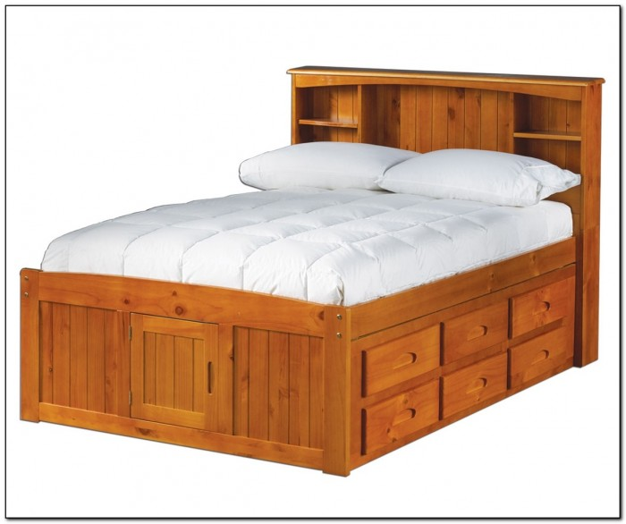 Full Size Captains Bed With Trundle Beds Home Design