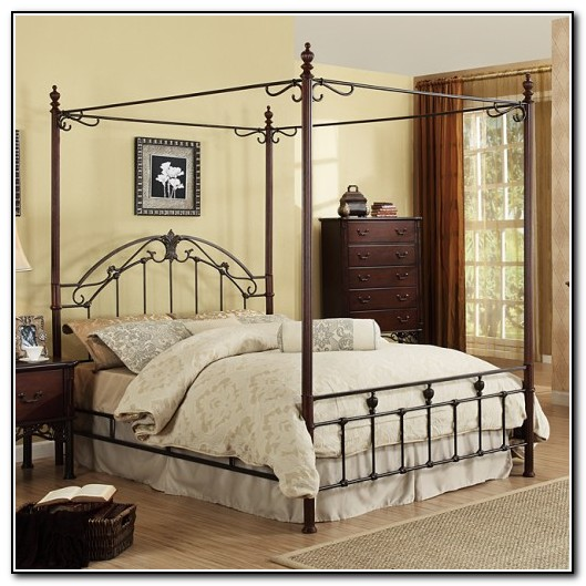 Iron Canopy Beds King Size