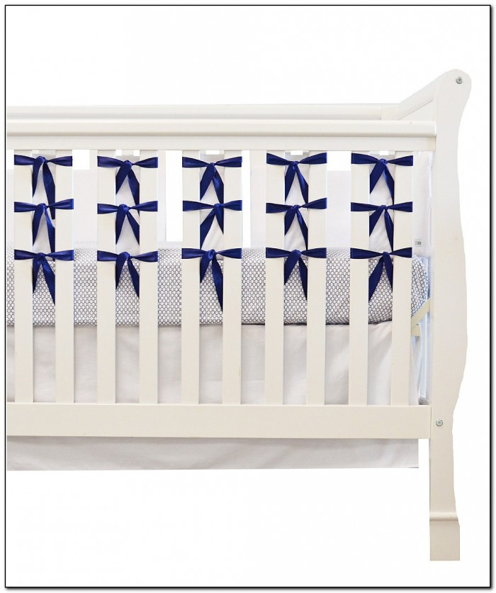 Navy Blue And White Crib Bedding