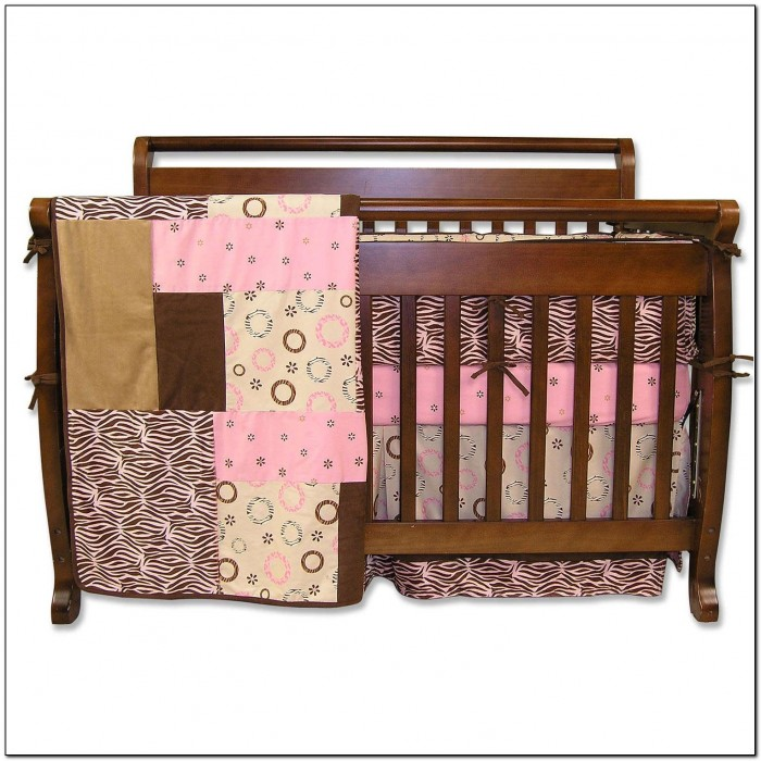 Pink And Brown Zebra Crib Bedding