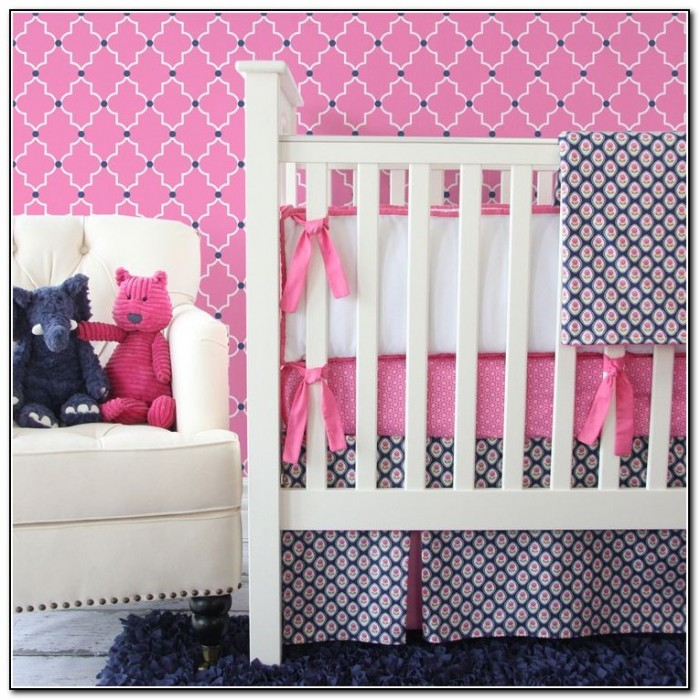 Pink And Navy Blue Bedding