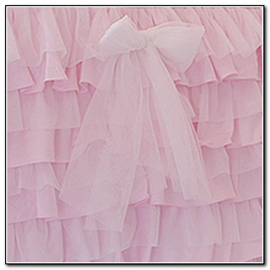 Pink Ruffled Bed Skirt
