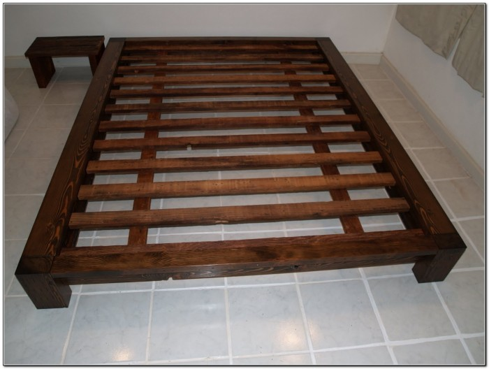 Platform Bed Frame Queen Plans