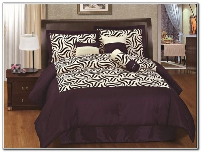 Purple Zebra Bedding Target