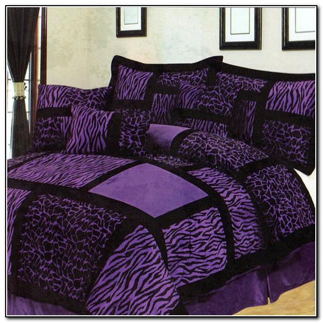 Purple Zebra Bedding Set Beds Home Design Ideas