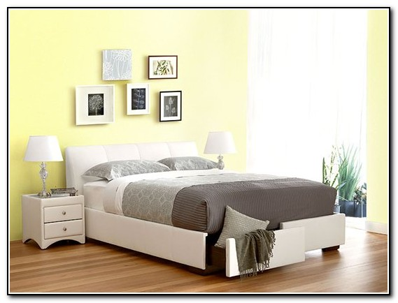 Queen Bed Frame With Storage White