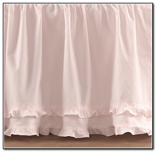 Ruffled Bed Skirt For Crib