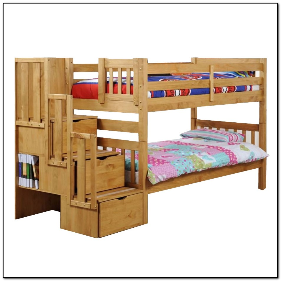 Staircase Bunk Bed Plans Beds Home Design Ideas