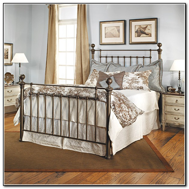 Antique Iron Bed Queen