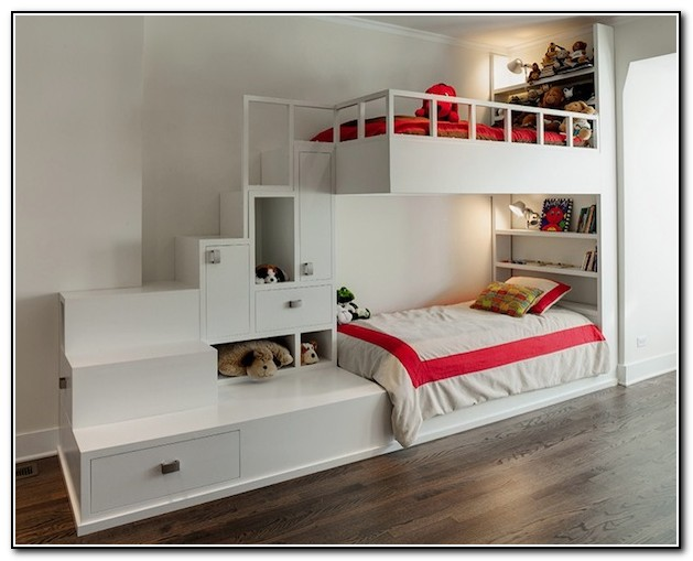 Girls Bunk Beds With Stairs Beds Home Design Ideas