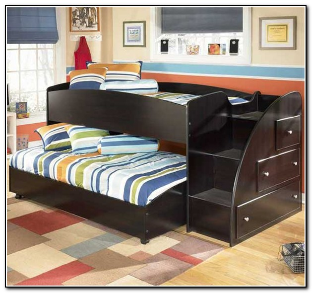 Black Bunk Beds With Trundle