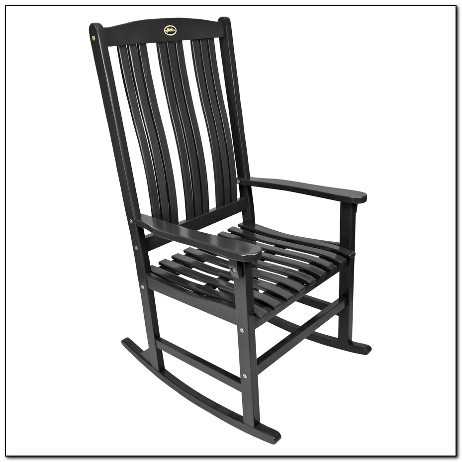 Black Porch Rocking Chairs