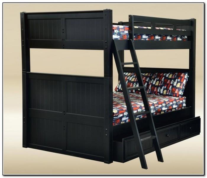 Black Wood Loft Bed