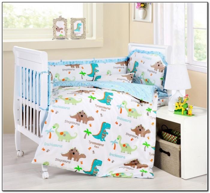 Dinosaur Girl Baby Bedding