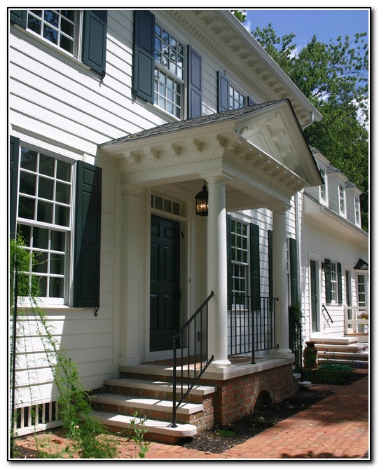 Front Porch Designs For Colonial Homes