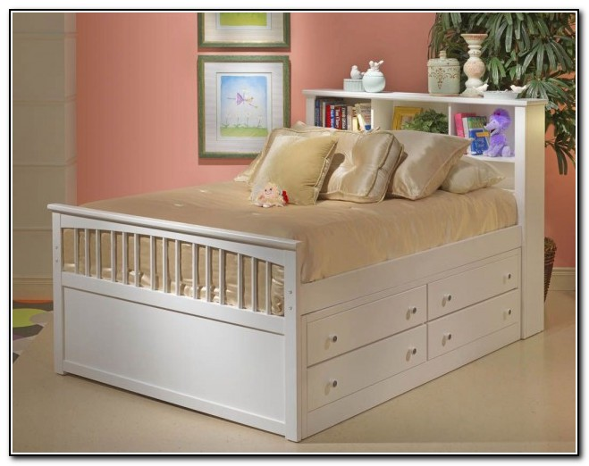 Full size bed with storage underneath beds home design Full size storage bed