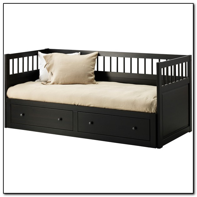 Hemnes Bed Frame Black Brown