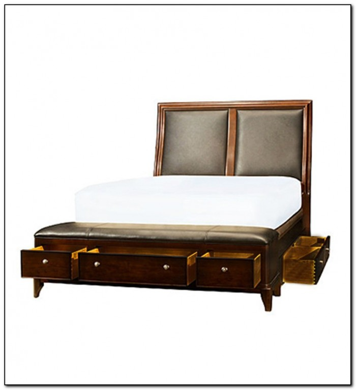 King Bed With Storage Headboard